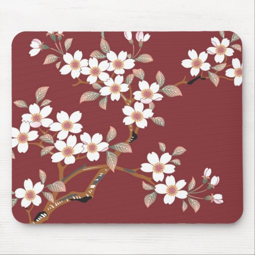 Japanese Cherry Blossoms Mouse Pad