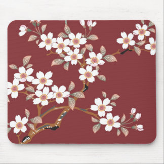 Japanese Cherry Blossoms Mouse Pads