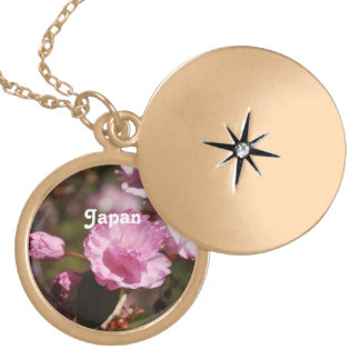 Japanese Cherry Blossoms Personalized Necklace