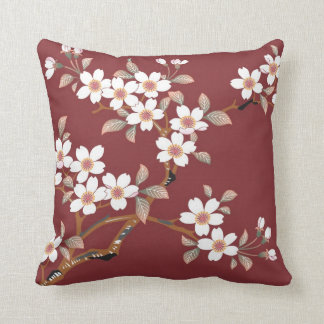 Japanese Cherry Blossoms Pillow