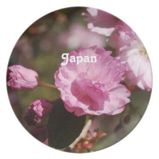Japanese Cherry Blossoms Dinner Plate