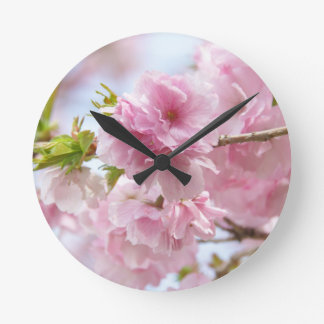 Japanese cherry blossoms round clock
