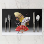 """Japanese Cherry Fans Large Tearaway Placemat<br><div class=""""desc"""">Japanese Cherry Fans</div>"""