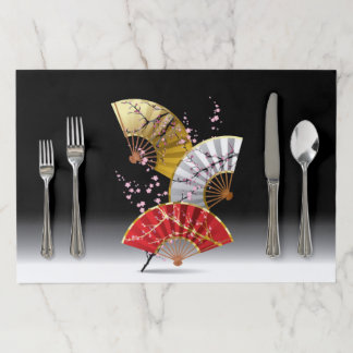 Japanese Cherry Fans Large Tearaway Placemat