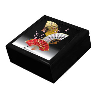 Japanese Cherry Fans Trinket Box