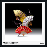 """Japanese Cherry Fans Wall Decal<br><div class=""""desc"""">Japanese Cherry Fans</div>"""