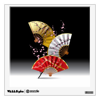 Japanese Cherry Fans Wall Decal