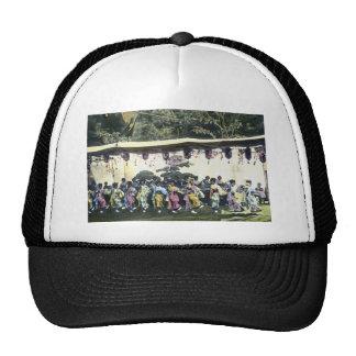 Japanese Cherry Festival Vintage Dancers Trucker Hat