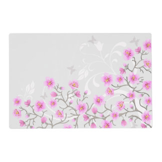 Japanese Cherry Flowers Laminated Placemat