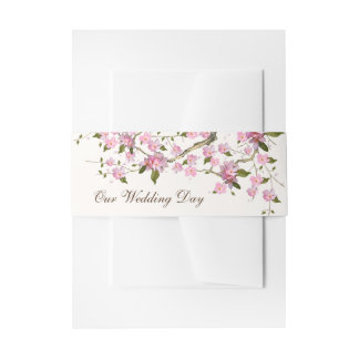 Japanese Cherry Invitation Belly Band