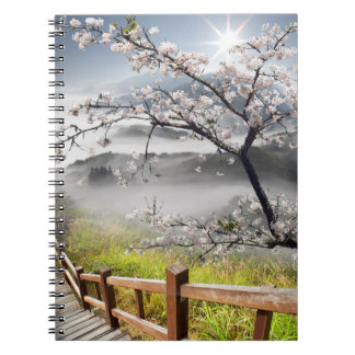 Japanese Cherry Landscape Notebook
