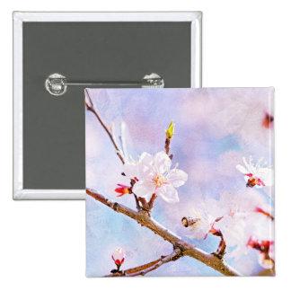 Japanese Cherry - Sakura In Bloom 2 Inch Square Button