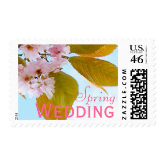 Japanese cherry spring wedding stamps