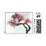 Japanese Cherry Tree Blossom Postage Stamps