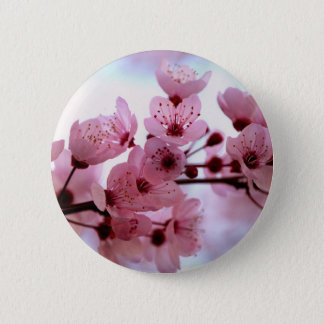 Japanese Cherry Tree Blossoms Button