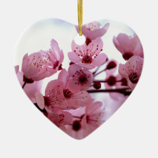 Japanese Cherry Tree Blossoms Ceramic Ornament