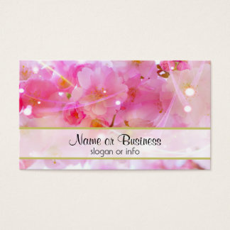 Japanese Cherry Tree with Pastel Pink Blossoms Business Card