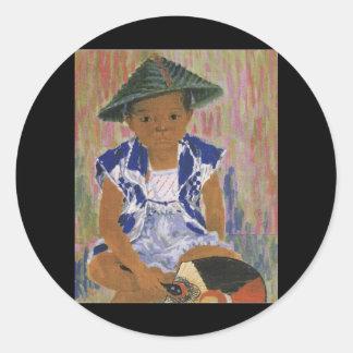 Japanese Child circa 1943 Classic Round Sticker