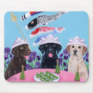 Japanese Children's Day Labradors Mouse Pad