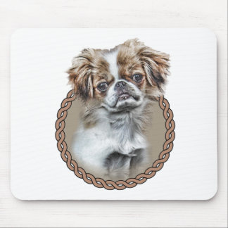 Japanese Chin 001 Mouse Pad