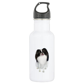 Japanese Chin (A) - Black and white Stainless Steel Water Bottle