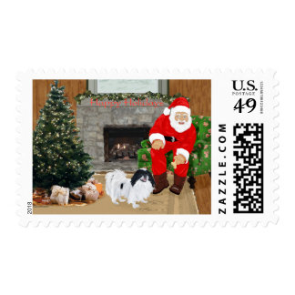 Japanese Chin and Santa Claus Postage