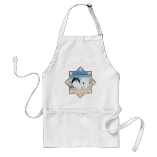 Japanese Chin at the Beach Adult Apron