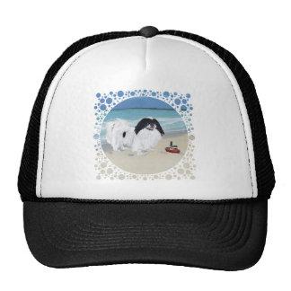 Japanese Chin at the Beach Trucker Hat