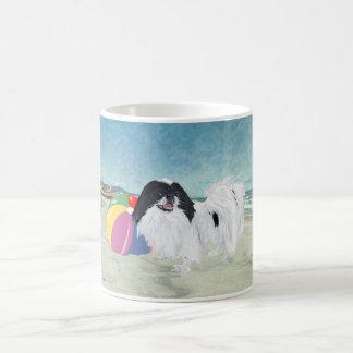 Japanese Chin Beach Ball Classic White Coffee Mug