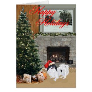 Japanese Chin Christmas Greeting Card