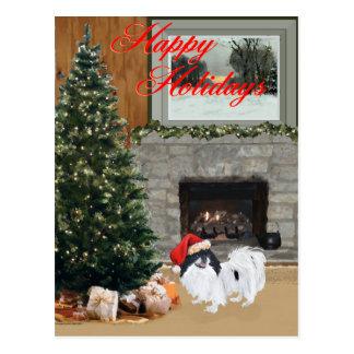 Japanese Chin Christmas Postcard
