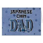 Japanese Chin DAD Greeting Cards