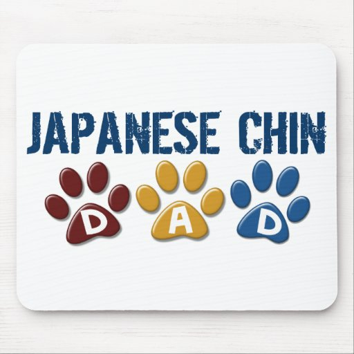 JAPANESE CHIN Dad Paw Print 1 Mouse Pad