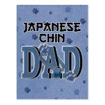 Japanese Chin DAD Postcard