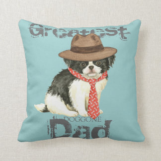 Japanese Chin Dad Throw Pillow