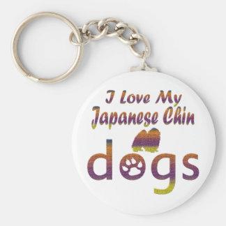 Japanese Chin designs Keychain