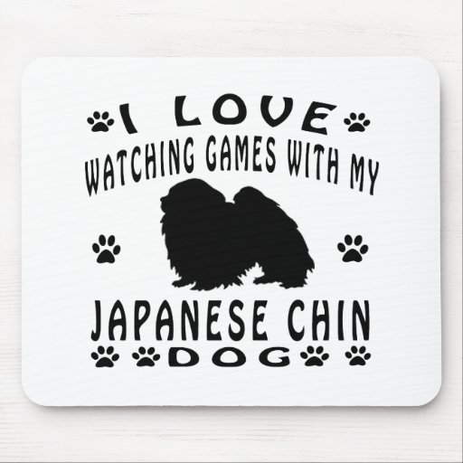 Japanese Chin designs Mouse Pads