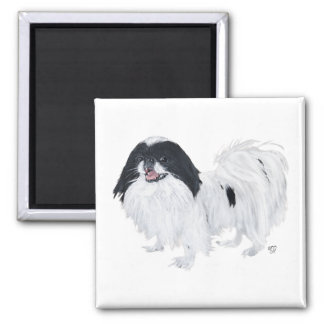 Japanese Chin Dog 2 Inch Square Magnet