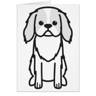 Japanese Chin Dog Cartoon Card