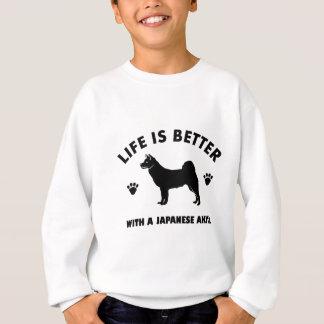 japanese chin dog design sweatshirt