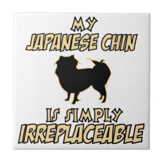 Japanese Chin DOG designs Ceramic Tile