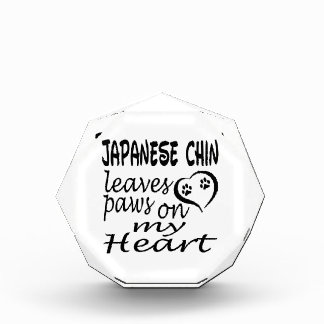 Japanese Chin Dog Leaves Paw On My Heart Award