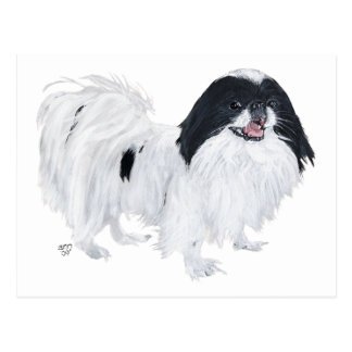 Japanese Chin Dog Postcard