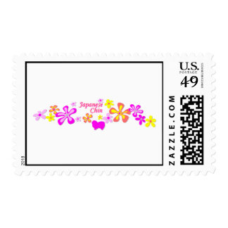 Japanese Chin Flowers Stamps