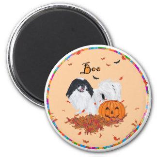Japanese Chin Halloween 2 Inch Round Magnet