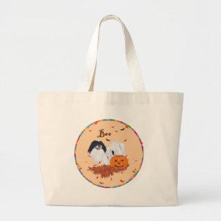 Japanese Chin Halloween Jumbo Tote Bag