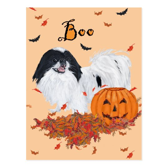 Japanese Chin Halloween Postcard