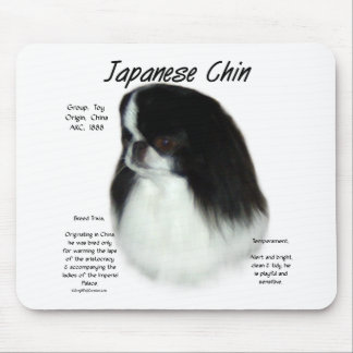 Japanese Chin History Design Mouse Pad