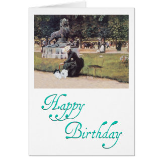 Japanese Chin in the Park Greeting Card