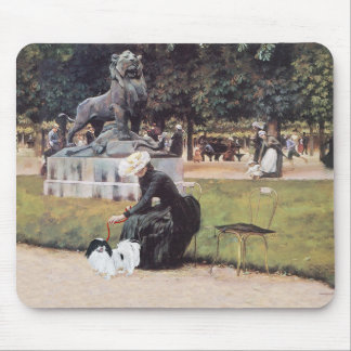Japanese Chin in the Park Mouse Pad